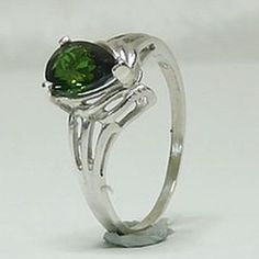 Stylish Rings, Green Tourmaline, Gemstone Rings, Silver Rings, Engagement Rings, Sterling Silver, Jewelry, Jewellery Making, Wedding Rings