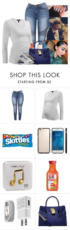"""""""Going to see baby daddy😍😩"""" by kennisha84 ❤ liked on Polyvore featuring Happy Plugs, WALL, Converse, Michael Kors and NIKE"""
