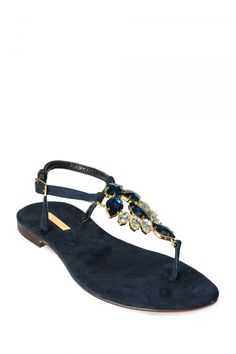 d5f68a0dff23 Crystal Embellished Sandal with Suede Sole