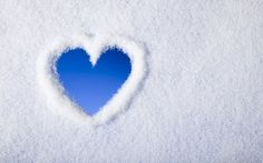 Preview wallpaper heart, snow, love, winter