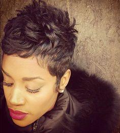 Hot Hair from Like The River Salon in Atlanta! by liketheriversalon Short Sassy Hair, Short Hair Cuts, Short Hair Styles, Pixie Cuts, Short Pixie, Love Hair, Great Hair, Gorgeous Hair, Cute Hairstyles For Short Hair