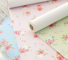 This Removable Wallpaper In Shabby Chic Is Perfect For Baby Girls Nursery Even If One