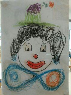 Clown schrijfdans