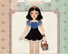 Oxfordoll has created this beautiful toy plus story inspired by the fairy tale The three brothers.  In the package you can find a princess paper doll
