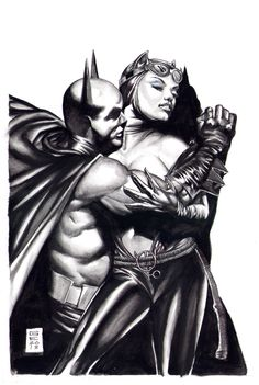 Batman Catches Catwoman by Gene Espy