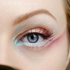 Dressed in Mint: make up. - Baby Blue / step by step