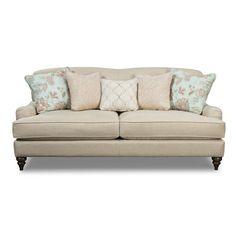 Craftmaster 752600 Traditional Camelback Sofa with Deep Seats