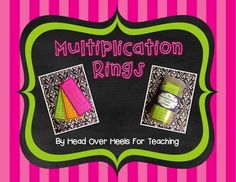 Help students memorize their facts with these multiplication rings!  Your students will be excited to study and use these rings for reference. Students will love having their facts at their fingertips! Great for practice at home or in the car! Copy on white or colored cardstock, punch a hole in the corner, and put on a book ring.