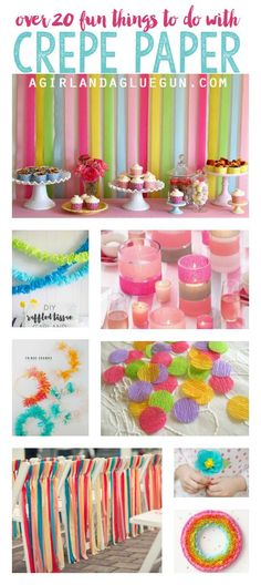 DIY Crafts | Over 20 fun things to do with crepe paper
