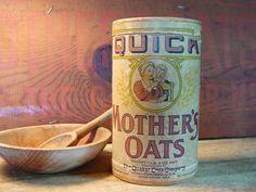 Vintage 1940's Mother's Oats Box Quaker Oats