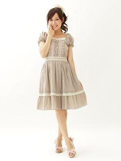 シャンブレーワンピース otome-kei dress from axes femme