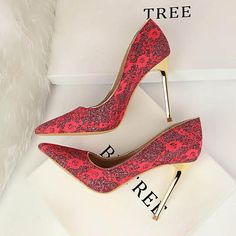 49157b9786a Women Luxury Designer Glitter Pointed Toe Stiletto Shoes