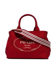 1f4a3ec4d34 Red Logo, Canvas Tote Bags, Miu Miu, Red Things, Prada, Canvas