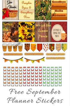 Free September Planner Stickers