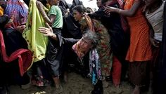 Mud and misery for refugees as Bangladesh tent city grows