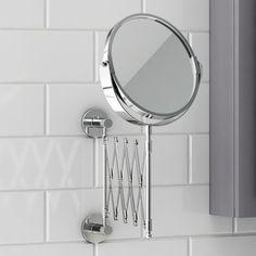Telescopic Cosmetic Mirror | Bathroom Accessories - soak.com
