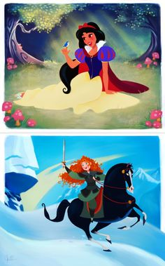 This is what it looks like when Disney Princesses swap lives - Dylan Bonner's Art