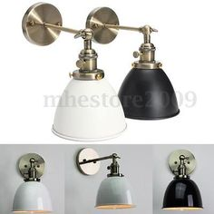Modern Retro Antique Vintage Sconce Cafe Edison Wall Light Bulb Lampshape Holder