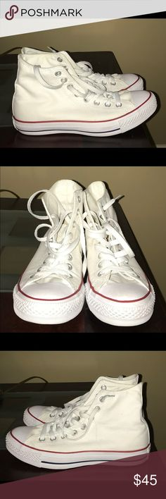 White Converse Sneakers White Converse Sneakers, worn handful of times just didn't really like them. Women's 8.5 Converse Shoes