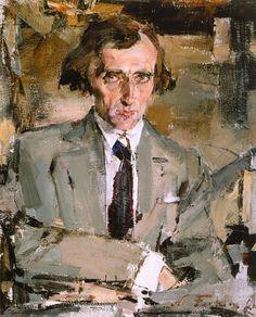 Portrét spisovatele (N.N.Evreinov) (1926).  Nikolai Feshin