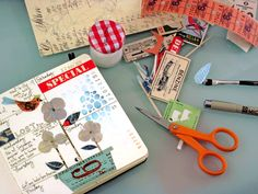 An interesting idea -- it would make my 2013 planner so much more interesting! There are times when just a bit of creativity would refresh the mind and the spirit .  .  .  collaged and painted planner pages.