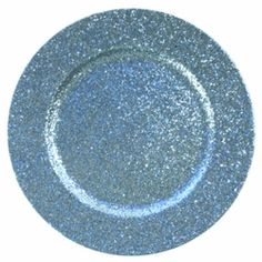 Glittery charger plate