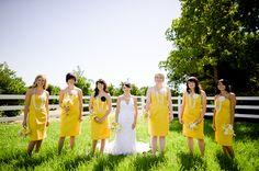 Yellow bridesmaids dresses, Dinuba California wedding, Ridge Creek Golf Course wedding reception, Ken Kienow photography