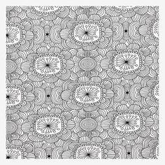 Kukkatarha (musta/valkoinen luomutrikoo) | Verson Puoti