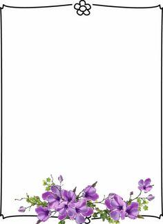 Thanks 2 Page Borders Design, Border Design, Borders For Paper, Borders And Frames, Flower Frame, Butterfly Frame, Happy Birthday Banner Printable, Free Printable Stationery, Calendar Wallpaper