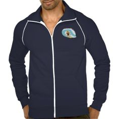 Surfing guy cartoon jacket