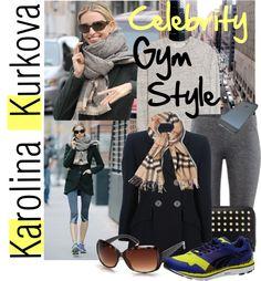 """""""Celebrity Gym Style - Karolina Kurkova"""" by ivansyd ❤ liked on Polyvore"""