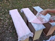 How To Re-Purpose a Dresser Using Lace as a stencil. But why not decoupage it on?