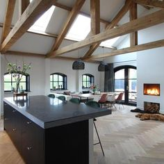 Deco Paris, Barn Renovation, Dream Decor, Contemporary Interior, Kitchen Interior, Home And Living, Home Remodeling, Building A House, Sweet Home