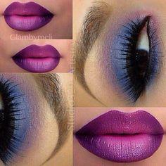 #degradê #make #labios #olhos