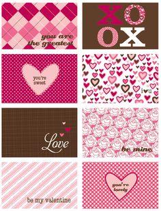 Valentine Printables papeles para imprimir