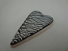 SALE Beautiful Handmade Primitive Heart Clay by AgileJewellery