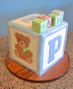 Building Blocks Baby Cake 1st Birthday Cakes Toy Chest Birthdays