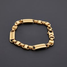 Touch of Modern is the most popular men's fashion site. Versace Bracelet, Link Bracelets, Minimalist Fashion, Silver Jewelry, Plating, Fancy, Womens Fashion, Gold, Touch