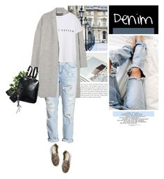 """""""Casual Denim"""" by erino9519 ❤ liked on Polyvore featuring Rochas, H&M, MANGO, Prism, Mykita, Guide London, women's clothing, women, female and woman"""