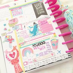 penpalhappyness: First half of the week in my Happy Planner! {shops are tagged} #plannerlove