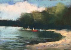 This is a pastel plein aire study I did this week while visiting a friend at her lake house. Again, very loose just blocking in color and shapes. It was a perfect day. www.danniellemick.com