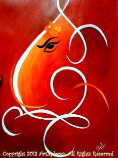 Lord Ganesha Acrylic Painting