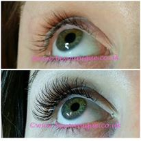 Close up to show you the detailed, neat and flawless eyelash extensions I provide. Every natural eyelash is isolated for complete comfortable wear.   No thick, heavy or uncomfortable lashes with excessive glue and NO damage to your natural lashes.
