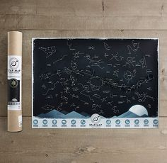 I LoVE tHiS!!!!  mini constellation map. Restoration hardware.