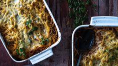 Tästä spagettivuoasta riittää suuremmallekin joukolle. Mehevä spagettivuoka muistuttaa lasagnea. Tämäkin resepti vain n. 0,80€/annos*. Mellow Yellow, Turkey, Cooking Recipes, Pasta, Meat, Dinner, Ethnic Recipes, Koti, Lasagna