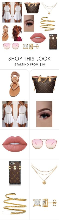 """Untitled #7"" by xoxojay1 on Polyvore featuring Breckelle's, Louis Vuitton, Lime Crime, Quay and Venus"