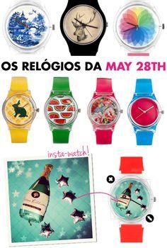 relógios, coloridos, may 28th, asos, mostradores estampados, estampa, modelos, personalizados, instagram, insta-watch, entrega brasil