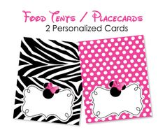 Hey, I found this really awesome Etsy listing at http://www.etsy.com/listing/111061464/pink-zebra-minnnie-mouse-food-tents-pink