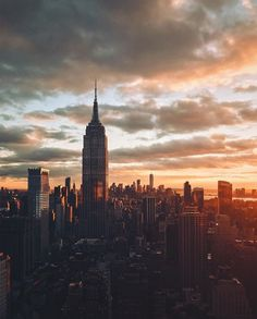 www.joliesse.ru   вдохновение Нью-Йорк закат город вид панорама небоскребы