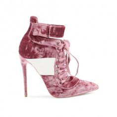880f2811ee8f Fifi Lace Up Sport Stripe Strap Boots in Rose Crushed Velvet Public Desire